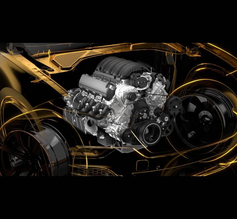 1. Động cơ V8 6.2 L - 420 HP